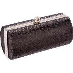 Women's J. Furmani 19547 Glitz Hard Case Clutch Black