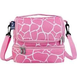 Girls' Wildkin Double Decker Lunch Bag Pink Giraffe