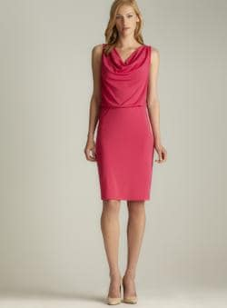 Josie Natori Cowl Neck Blouson Dress
