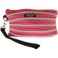 Women's BAM BAGS Wristlet/Make-Up Bag Hot Pink/Silver