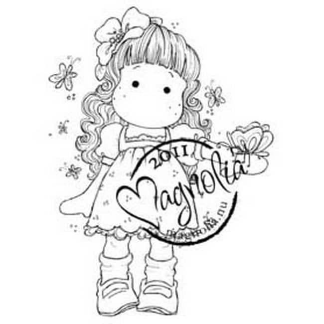 Butterfly Dreams Cling Stamp-Tilda With Hawaii Flower