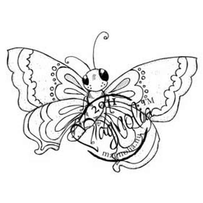 Butterfly Dreams Cling Stamp-Large Butterfly
