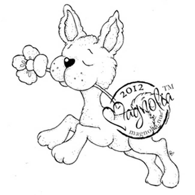 Little Easter Cling Stamp-Little Hoppy With Buttercup