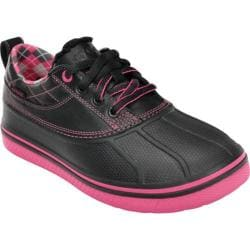 Women's Crocs AllCast Duck Golf Shoe Black/Hot Pink
