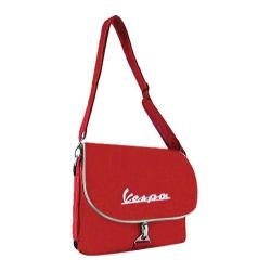 Vespa Logo Messenger Bag Red