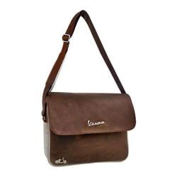 Vespa Scooter Messenger Bag Brown