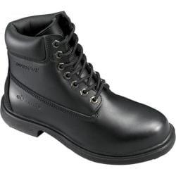 Women's Genuine Grip Footwear Slip-Resistant Waterproof Boot Black Leather