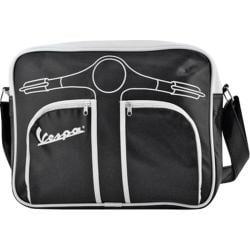 Vespa Frontipiece Horizontal Shoulder Bag Black