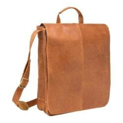 LeDonne DS-903 Tan Vertical Messenger Bag