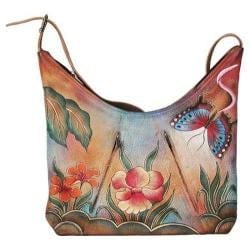 Women's ANNA by Anuschka U-Top Tote Floral Butterfly