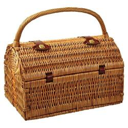 Picnic at Ascot Sussex Picnic Basket for Two with Blanket Wicker/Gazebo