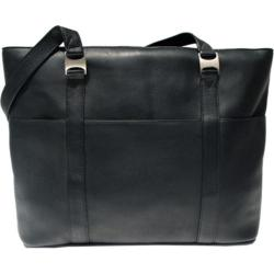 Piel Leather Computer Tote Bag 2470 Black Leather
