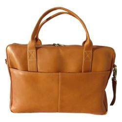 Piel Leather Top Zip Portfolio 7603 Saddle Leather
