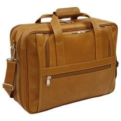 Piel Leather Large/Ultra Compact Computer Bag 2930 Saddle Leather