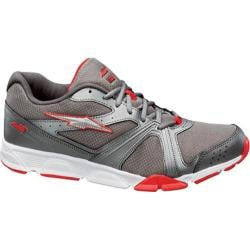 Men's Avia A1388M Metallic Steel Grey/Racer Red