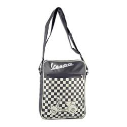 Vespa Checkered Shoulder Bag Black