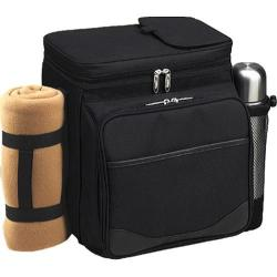 Picnic at Ascot London Picnic and Coffee Cooler for Two Black/London Plaid