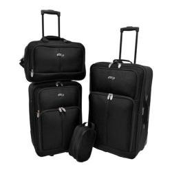 US Traveler Black Potenza 4-Piece Luggage Set