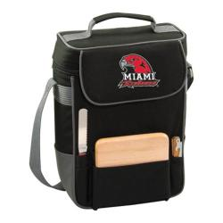Picnic Time Duet Miami University Red Hawks Print Black/Grey