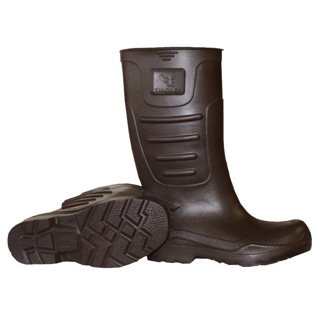 Men's Brown EVA Plain Toe Knee-high Rain Boots 12269555