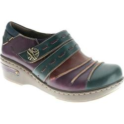 Women's Spring Step Sherbet Blue Multi Leather