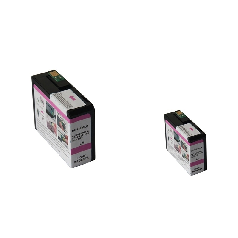 INSTEN Epson T5806LM 80ml Light Magenta Ink Cartridge Set (Remanufactured) (Pack of 2)