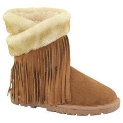Women's Lamo Fringe Wrap Chestnut
