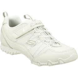 Girls' Skechers Bikers II School Star White/Silver