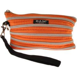Women's BAM BAGS Wristlet/Make-Up Bag Tangerine/Silver
