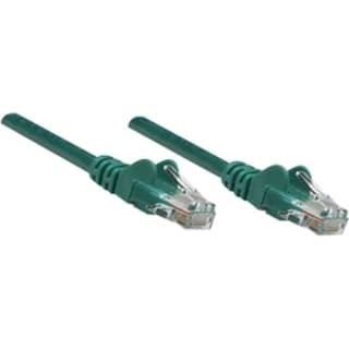 Intellinet Patch Cable, Cat5e, UTP, 3', Green