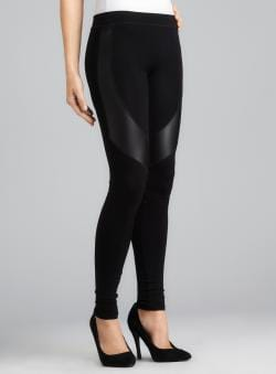 525665ef750786 I search for information on the Romeo & Juliet Couture Faux Leather Panel  Stretch Legging with a details are briefly ...