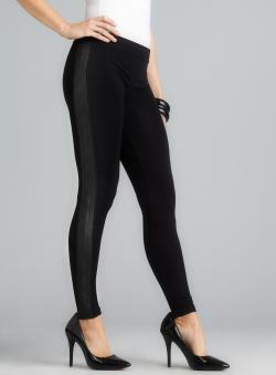 6a646536d8cadd Romeo & Juliet Couture Faux Leather Side Pull On Black LeggingsI remember a  week ago. I saw Romeo & Juliet Couture Faux Leather Side Pull On Black  Leggings ...