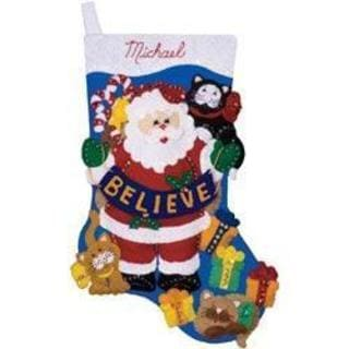 Believe Stocking Felt Applique Kit - 17 Long