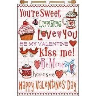 Happy Valentines Jeweled Banner Kit - 16 X24