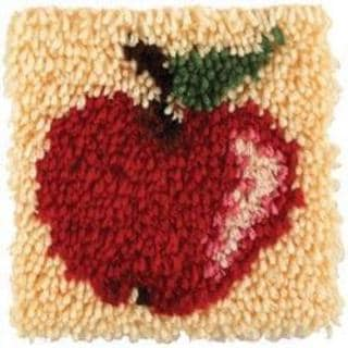 Wonderart Latch Hook Kit 8 X8 - Apple