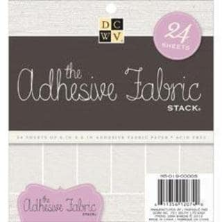 Adhesive Fabric Paper Stack 6 X6 24/Sheets -