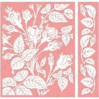 Cuttlebug A2 Embossing Folder/Border Set - Anna Griffin Mayfair Floral