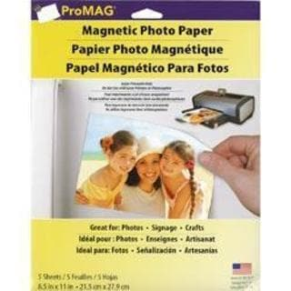 ProMag Magnetic Photo Paper - 8.5 X11 5 Sheets/Pkg