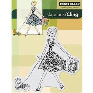 Penny Black Cling Rubber Stamp 4 X5.25 - Fashion Leader