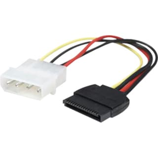 Manhattan 4 Pin to 15 Pin SATA Power Cable, 6.3""