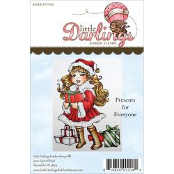 Little Darlings Unmounted Rubber Stamp - Presents For Everyone