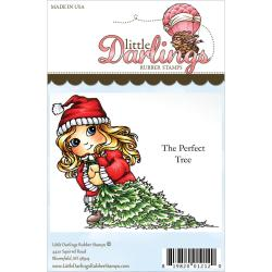 Cutie Pies Unmounted Rubber Stamp - The Perfect Tree