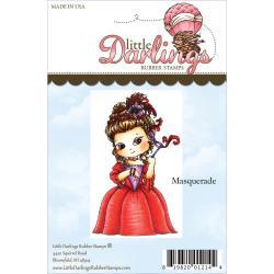 Cutie Pies Unmounted Rubber Stamp - Masquerade