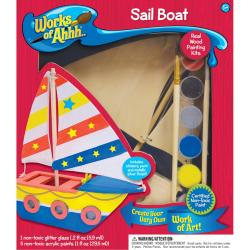 Works Of Ahhh... Wood Paint Kit - Sail Boat