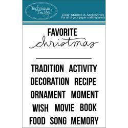 Technique Tuesday Clear Stamps 3 X4 - Christmas Fill-Ins