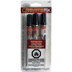 Createfx Marker Set .33oz 3/Pkg - Earth, Mud and Grime