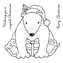 Woodware Clear Stamps 3.75 X4 Sheet - Beary Christmas
