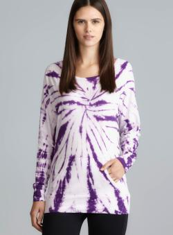 Balance Purple Tie Dye Raglan Sleeve Top