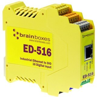 Brainboxes ED-516 Ethernet to Digital IO 16 Inputs