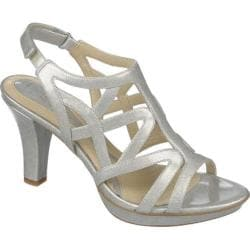 Women's Naturalizer Danya Soft Silver Crosshatch Shiny Patent